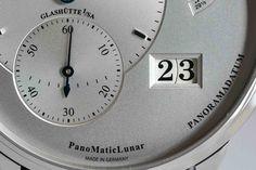 Glashutte Original, Monochrome Watches, Clock, Steel, The Originals, Unique Jewelry, Etsy, Clocks, Watch