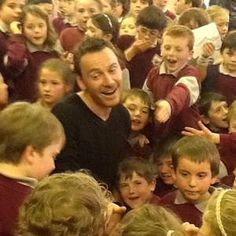 HIS visit was unannounced and low-key but Hollywood star Michael Fassbender was welcomed back with open arms at his old school.
