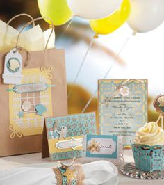 Ready for a perfect party? Check out this fun project with #DavidTutera #Celebrate papercrafting items! #seashells