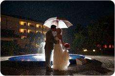 Wedding Photography - Bride & Groom Umbrella
