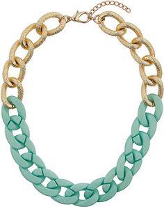 Textured Half Green Chain - Lyst