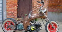 """THE OLD GARAGE # """"The Suicide"""" 1969 Honda Dax Rat Chopper"""