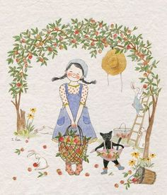 315 images about GreenIvy on We Heart It Art And Illustration, Illustration Mignonne, Illustrations Posters, Art Fantaisiste, Art Mignon, Korean Art, Cute Images, Whimsical Art, Belle Photo