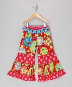 Take a look at this Red & Pink Pixie Pants - Infant, Toddler & Girls by Mustard Pie on #zulily today!