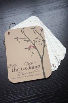 DIY Wedding Program by Serendipity & Spark - no link, but it's an idea Diy Wedding Programs, Ceremony Programs, Wedding Stationary, Wedding Invitations, Stationary Design, Fall Wedding, Rustic Wedding, Our Wedding, Dream Wedding