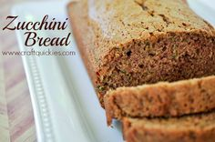 This zucchini bread recipe is delicious, moist, and simple. A must for your bread making collection!