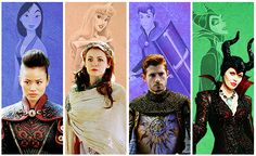 Once Upon A Time - Mulan, Aurora, Prince Philip, Maleficent