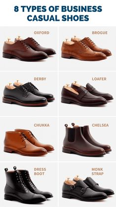 8 Best Business Casual Shoes for Men Guide] - The Modest Man What are the best business casual shoes for men to wear to the office? Which types of shoes *are not* appropriate for work? Check out this 2020 guide. Source by business casual outfits Best Business Casual Shoes, Mens Smart Casual Shoes, Mens Business Shoes, Stylish Mens Outfits, Mens Casual Dress Shoes, Casual Suit, Men's Casual Shirts, Business Casual Attire For Men, Casual Wear For Men