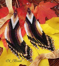 Native American Beaded Earrings Beaded Earrings Seed by OlBeads