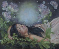 Dreamy series by Seattle-based artist Kari-Lise Alexander. More images from Inflorescence Ophelia Painting, Pop Surrealism, Photo Projects, Community Art, Beautiful Artwork, Traditional Art, Art Pictures, Les Oeuvres, Fantasy Art