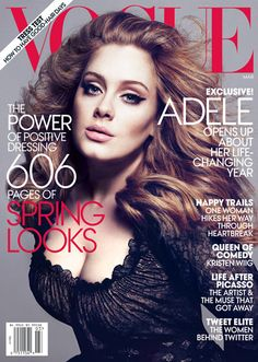 {Best Fashion Magazine Covers 2012 by MTV Style}: Adele on March 2012 cover of Vogue
