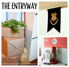 A Well-Feathered Nest: Harry Potter Party: Platform 9 3/4 - the Entryway