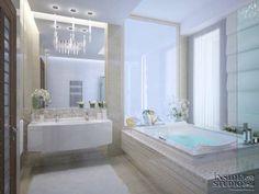 Дизайн проект интерьера ванной комнаты в загородном доме. Архитектор Ирина Рихтер. INSIDE-STUDIO Prague