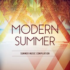 Modern Summer CD Cover Artwork Template