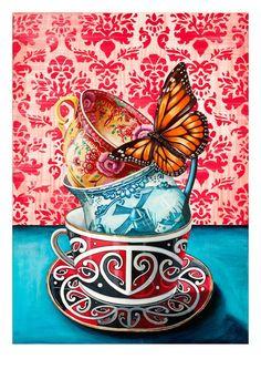 Angie Dennis - Contemporary New Zealand art for your home and business - Descendants Of Nz Art, Art For Art Sake, Framed Art Prints, Fine Art Prints, Maori Designs, New Zealand Art, Pink Cups, Art Prompts, Maori Art