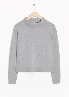 & Other Stories image 1 of Wide Collar Sweater in Grey