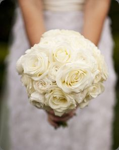 9)  white bouquet.  Like that not all the flowers are uniform, but bouquet still forms a tight, round shape.