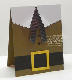 Debbie's Designs: Mr. Pilgrim Card! Great Thanksgiving Day Card idea