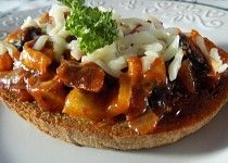 Žampionová směs na topinky Czech Recipes, Ethnic Recipes, Baked Potato, Sandwiches, Stuffed Mushrooms, Brunch, Appetizers, Food And Drink, Treats