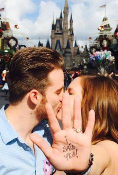 Brides.com: 19 Amazing Engagement-Ring Selfies A selfie with an Eiffel Tower backdrop.Photo: Stefanie Franke via Instagram