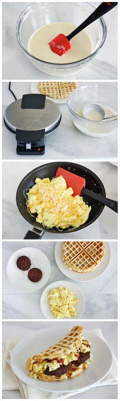 Waffle Breakfast Taco