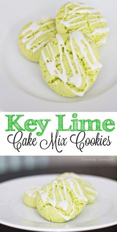 Key Lime Cake Mix Cookies with Icing Recipe