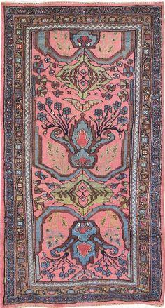 "Persian Bidjar rug, 3""7 x 6""5, Circa 1890, Landry and Arcari gallery"