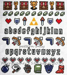 Legend of Zelda  Band Sampler Cross Stitch by merrywether99, $5.00