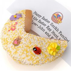 Hop into spring with the Spring Fling Giant Fortune Cookie, available at the Food Network Store.