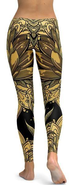 Golden Lotus Leggings