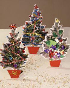Free Printable Mini Christmas Tree Template to decorate