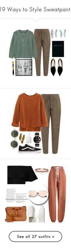 """""""19 Ways to Style Sweatpants"""" by polyvore-editorial ❤ liked on Polyvore featuring sweatpants, extra, waystowear, Joseph, MANGO, Nicholas Kirkwood, Leftbank Art, Piccadilly, WithChic and Vans"""