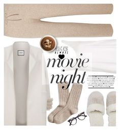 """""""Cozy with a movie"""" by nineseventyseven ❤ liked on Polyvore featuring Topshop, The Row, Max & Moi, Natori, Brooks Brothers, Ace and movieNight"""