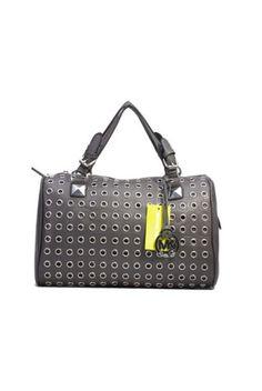 7a2c9d80b6 Michael Kors Light Black Eyelet leather bag