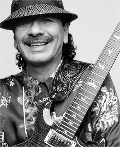 FELIZ ANIVERSÁRIO!!!  Carlos Santana (1947) - Mexican American musician who first became famous in the late 1960s and early 1970s with his band, Santana, which pioneered a fusion of rock and Latin American music. http://www.guitarandmusicinstitute.com