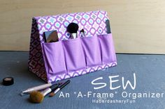 Best Sewing Projects to Make For Girls - DIY Make Up Organizer - Creative Sewing Tutorials for Baby Kids and Teens - Free Patterns and Step by Step Tutorials for Dresses, Blouses, Shirts, Pants, Hats and Bags Sewing Tools, Sewing Notions, Sewing Tutorials, Sewing Crafts, Tutorial Sewing, Sewing Hacks, Diy Makeup Organizer, Make Up Organizer, Fabric Organizer