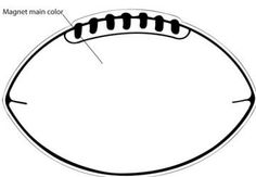 Football pattern. Use the printable outline for crafts