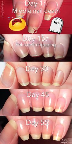 Simply Nailogical: Leaving the nub club: How to grow your nails Nails that are hard and break at wear the skin states and the mail extends out Grow Nails Faster, How To Grow Nails, Love Nails, Pretty Nails, Nail Growth, Strong Nails, Healthy Nails, Cute Nail Designs, Natural Nails