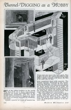 ♥♥♥ Tunnel-Digging as a Hobby (Aug, 1932)