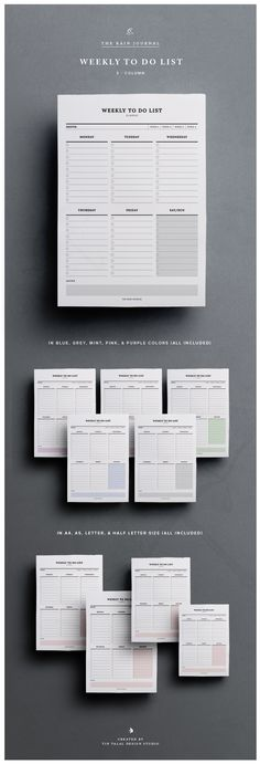 Weekly To Do List - Printable | Instant Download | A4, A5 & Letter | Planner | Fit for Kikki K Large and A5 Filofax. This To Do List Planners can be inserted in your favorite planner!