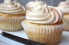 Vanilla Bean Latte Cupcakes.