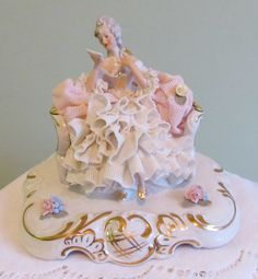 Dresden Lace Porcelain Figurine...MAGNIFICENT