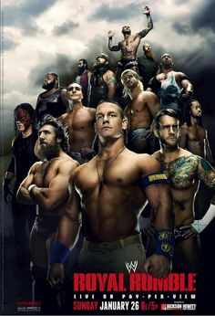 Don't miss Randy Orton, John Cena, CM Punk, The Shield, and all your favorite WWE Superstars as they compete for the right to face the WWE or World Heavyweight Champion in the ultimate battle at WWE Royal Rumble, Sunday, January 26, at 8PMET/5PMPT. I can't wait!!