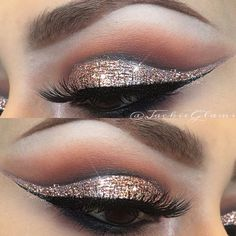 Rose gold glitter cut crease #JackieGlams @jackieglams