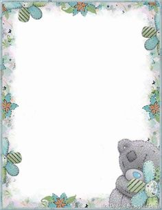 Tatty Teddy, Borders For Paper, Borders And Frames, Stationary Printable, Teddy Bear Pictures, Blue Nose Friends, Framed Wallpaper, Paper Frames, Stationery Paper