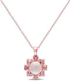 Look at this Pink Tourmaline & Rose Quartz Floral Pendant Necklace on #zulily today!