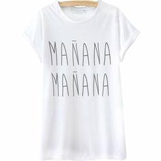 24,90EUR T-Shirt mit Aufschrift Manana