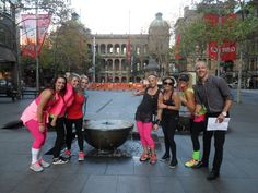 Fun day in the city doing the amazing race with my Lorna Jane crew wearing LJ but 80's inspired haha