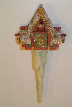 "New P. Schifferl 8"" Xmas ornament Bird house Icicle Pam Midwest of Cannon Falls"