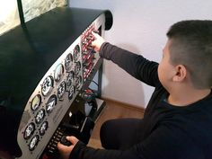 This is my DIY Cessna 172 Cockpit for FSX. It is a step by step tutorial of building a Cessna 172 Cockpit on cheap. Aircraft Instruments, Flight Simulator Cockpit, Cessna 172, Dremel Projects, Pilot Training, Aviation, Cyberpunk, Diy, Music